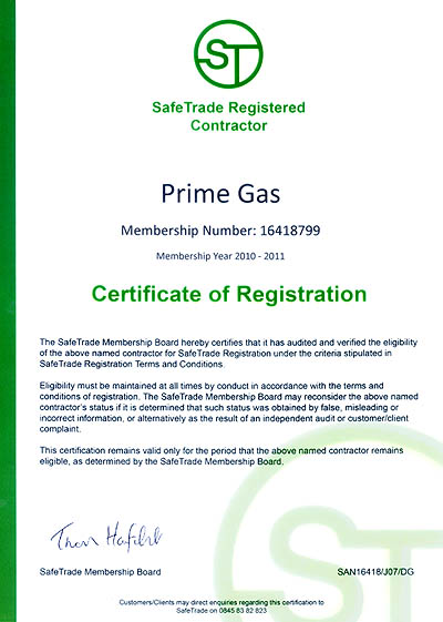 Safe Trade Registered Contractor
