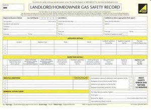 landlords cp12 certificate