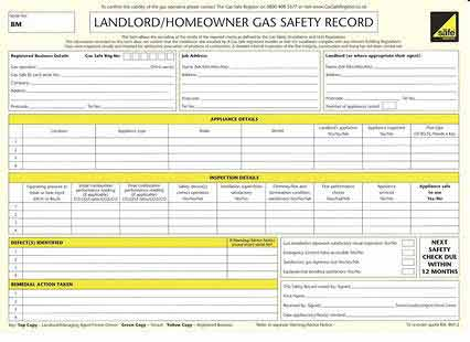 Landlords Cp12 Certificates